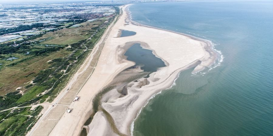 The zandmotor at the coast of the Netherlands near The Hague