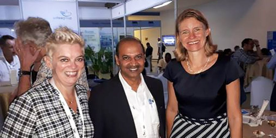 Blog Antea India. From left to right, Annemieke van Zuylen, NWP Project Manager Events, Krishna Kant Gupta, Head of Water and Urban Infrastructure at Antea India, and Tanja Gonggrijp, Dutch Ambassador to Sri Lanka