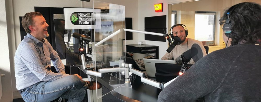 Photo of the New Business Radio's studio where the WaterTalks with Beccan Davila Urbanismo was aired.
