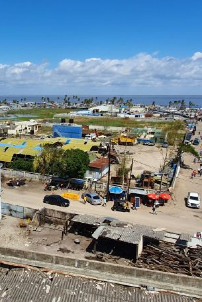 Beira, Mozambique after cyclone Idai hit the city