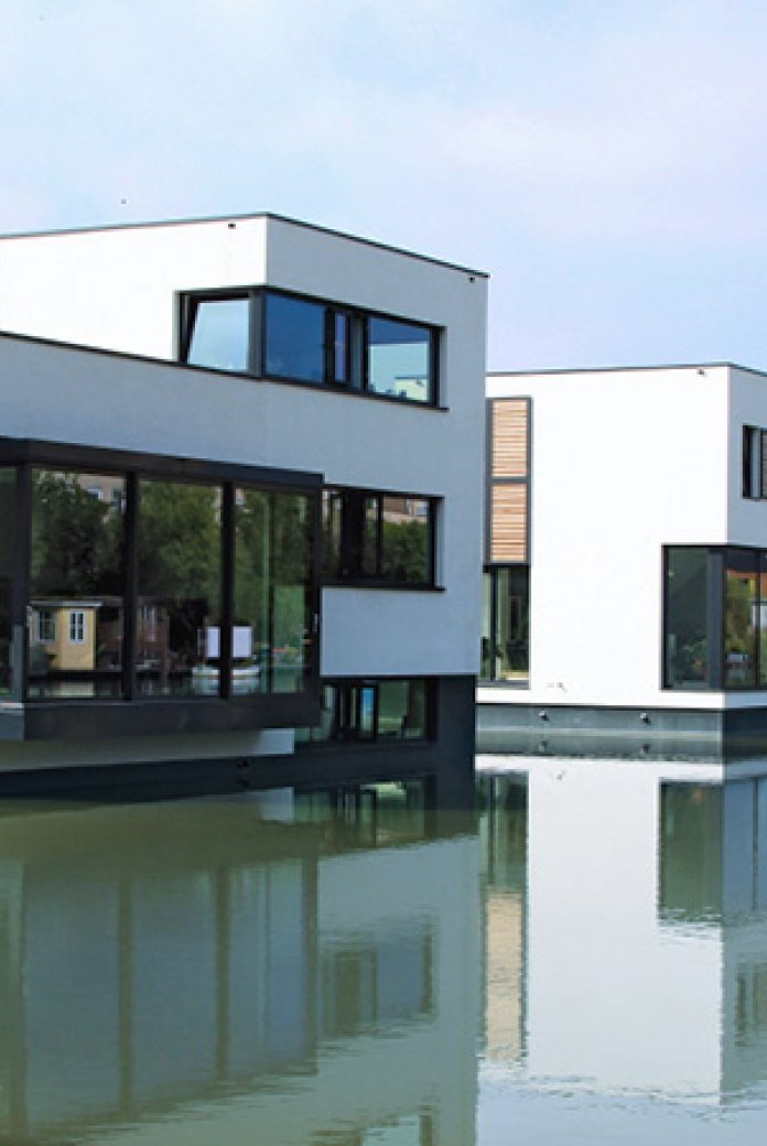 Blue21. Example of floating housing in Harnaschpolder