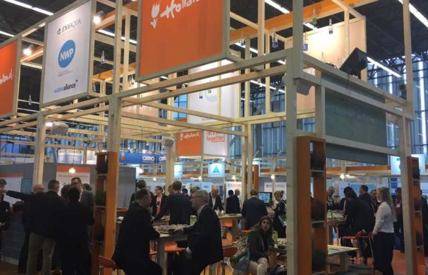 The Netherlands Pavilion at the Aqautech trade exhibition in Amsterdam
