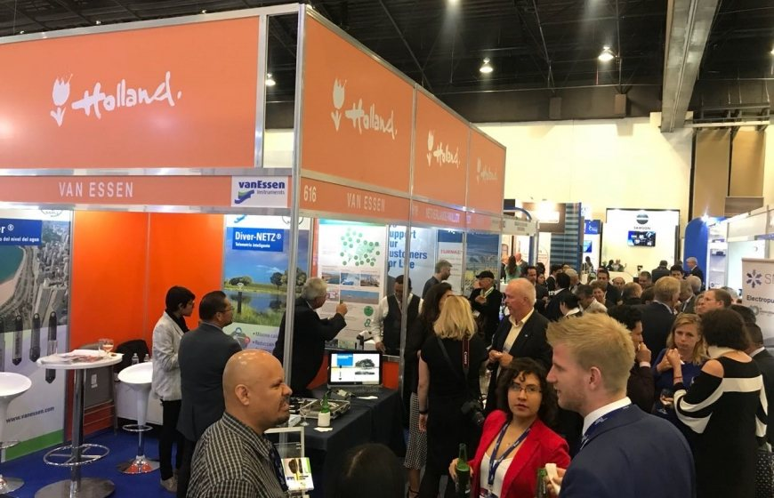 A well attended networking reception at the Netherlands Pavilion
