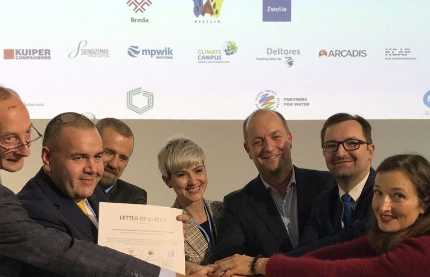 The signing of the Letter of Intent by Polish and Dutch organisations at COP 24
