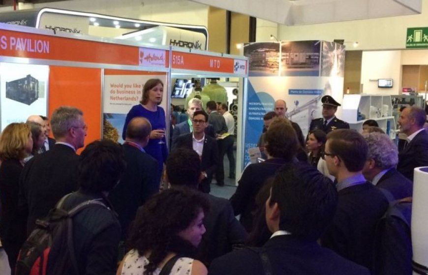 Welcoming reception at the Aquatech Mexico