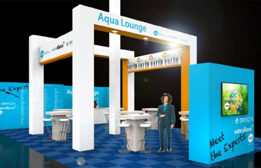 Photo of the design of the Netherland Pavilion at Aqua Nederland Vakbeurs