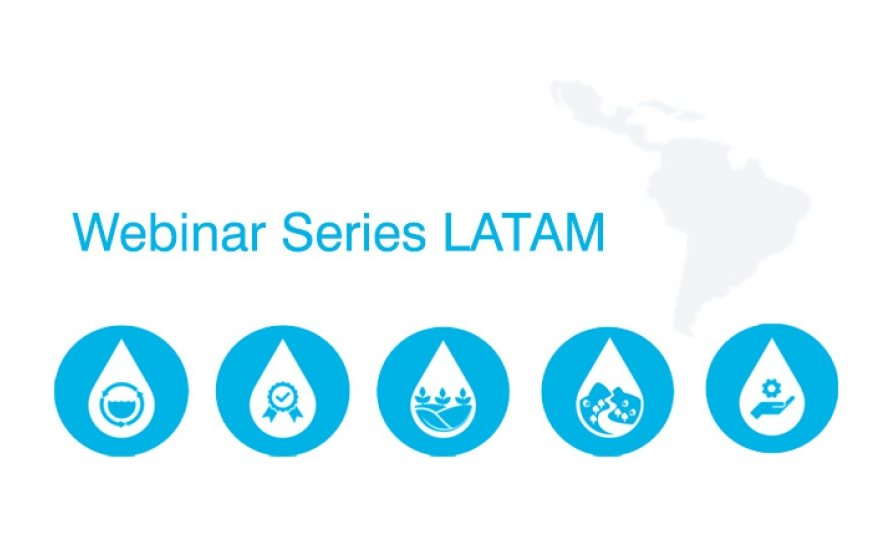 Banner with the topics of the webinar series LATAM.