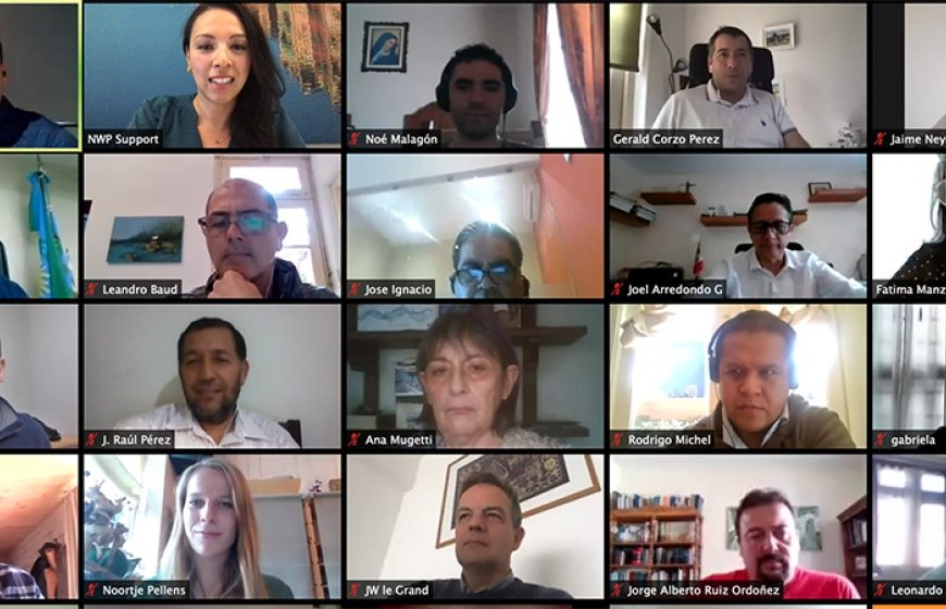Screenshot of the participants of the webinar on IWRM Resilience.