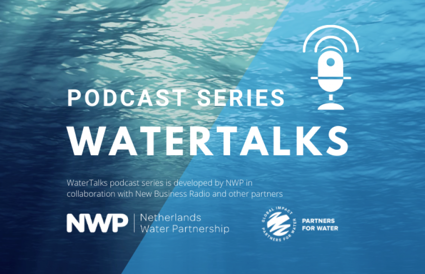Banner of WaterTalks, a podcast of NWP and partners.